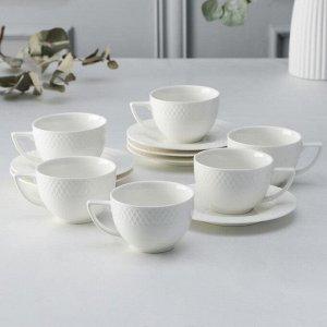 Набор чайный «Юлия Высоцкая», на 6 персон, 12 предметов: 6 чашек 240 мл, 6 блюдец