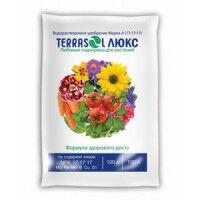 Удобрение минеральное водорастворимое Terrasol Люкс 100г. для растений и рассады