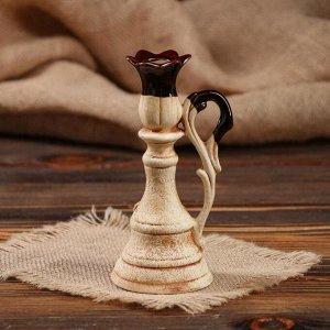 """Подсвечник """"Лотос"""" для одной свечи. лепка"""