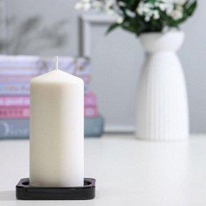 Тарелка для свечи ГЛАСИГ. 10x10 см. стекло. черный