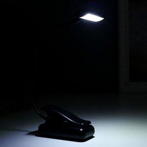 Светильник настольный 16430/1 LED от батареек 3ААА черный 7х4.5х31 см