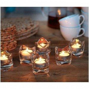 Набор свечей чайных ГЛИММА. 100 шт. 4 ч.  белый