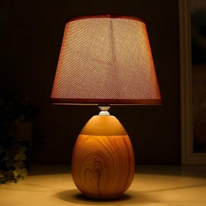 Лампа настольная 16305/1BR E14 40Вт светлое дерево 20х20х31 см