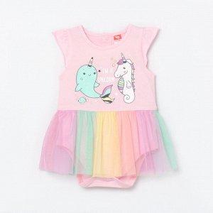 Боди платье для девочки