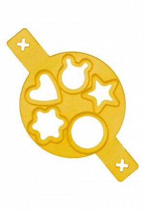 Фигурная форма для оладий, желтая