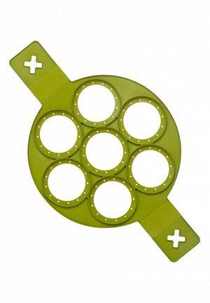 Круглая форма для оладий, зеленая