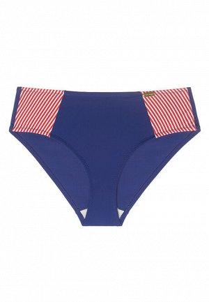 Трусы-слипы с завышенной талией для купания Sherry, цвет красно-синий