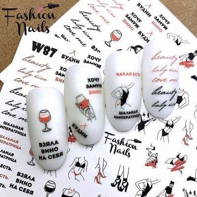 Весеннее настроение. Всё для ногтевого сервиса, шугаринга  — Наклейки,слайдеры, стикеры для дизайна — Дизайн ногтей