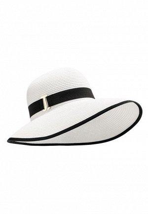 Шляпа с ассиметричными полями, цвет белый