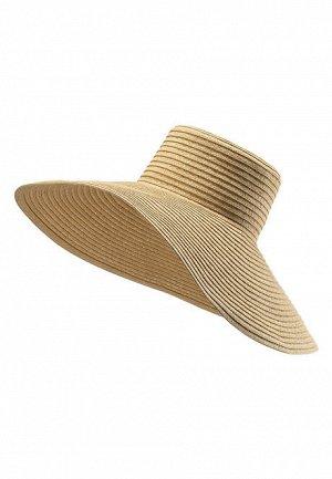Шляпа с широкими полями, цвет бежевый