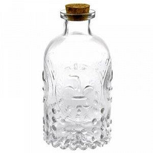 """Бутылка стеклянная """"Французская"""" 0,25л h12,5см, д/горла 2см."""