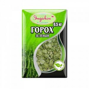 Горох шлифованный колотый зелёный Эндакси