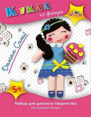"""С3309-03 Кукла из фетра """"Кукла с пирожным"""""""