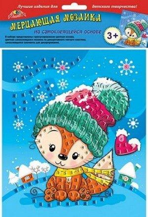 """С2420-15 Мерцающая мозаика """"Лисичка"""" самоклеющаяся"""