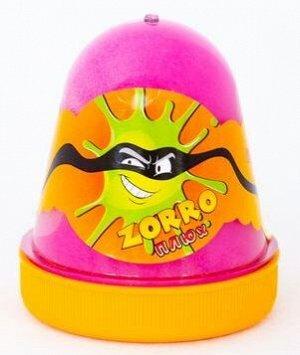 """0380 Слайм-Плюх """"ZORRO"""" перламутровый розовый 130 грамм"""