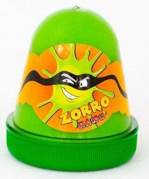 "0427 Слайм-Плюх ""ZORRO"" перламутровый зеленый 130 грамм"
