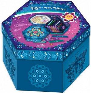 05636 Шкатулка-мозаика с карандашами и мелками.Чудо - шкатулка