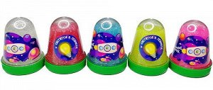 """0953 Слайм-Плюх """"Космос"""" светящийся с блестками,ассорти 130 гр"""