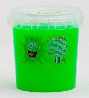 0612 Слайм-Плюх зеленый контейнер 140 грамм
