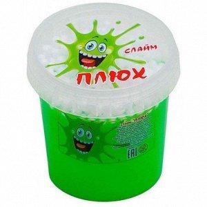 0629 Слайм-Плюх зеленый с шариками контейнер 140 грамм