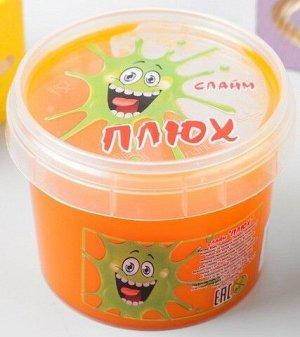 0407/7118ORBA 90g Слайм-Плюх оранжевый контейнер 90 грамм