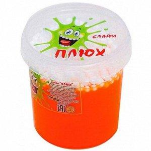 0605 Слайм-Плюх оранжевый с шариками контейнер 140 грамм
