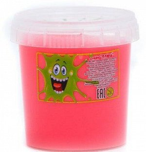 0551/0575 Слайм-Плюх розовый контейнер 140 грамм
