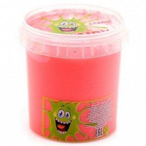 0582 Слайм-Плюх розовый с шариками контейнер 140 грамм
