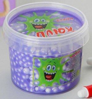 0452/7218FIBA 90g Слайм-Плюх фиолетовый с шариками контейнер 90 грамм