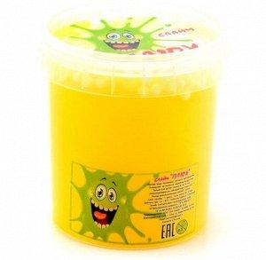 0643 Слайм Плюх желтый, контейнер с шариками, 140 гр.