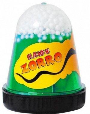 "0861 Слайм-Плюх ""ZORRO"" зеленый перламутровый с шариками 130 гр"