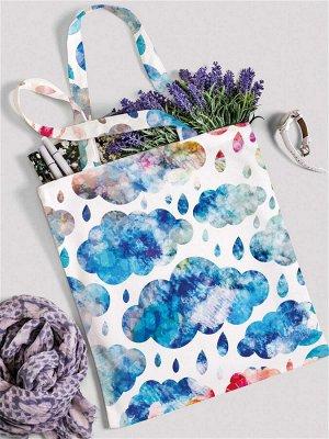 """JoyArty /  Сумка шоппер """"Краски природы"""", ткань под лен, 42x38x7 см"""