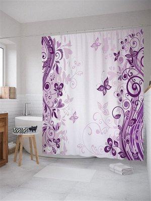 JoyArty /  Штора (занавеска) для ванной из ткани, 180х200 см с крючками