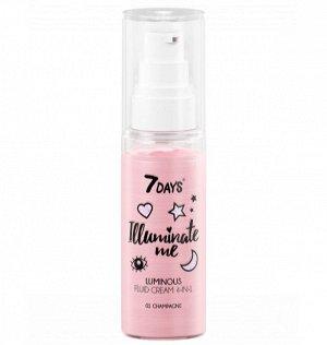 Сияющий крем-флюид для лица 7 DAYS ILLUMINATE ME ROSE GIRL (оттенок 01 Champagne), 50 мл.