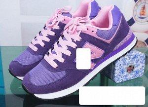 Женские кроссовки, цвет фиолетовый/розовый