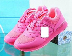 Женские кроссовки, цвет ярко-розовый
