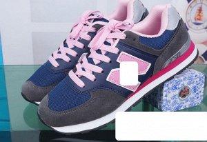 Женские кроссовки, цвет темно-серый/темно-синий/светло-розовый