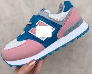 Детские кроссовки, цвет розовый/синий
