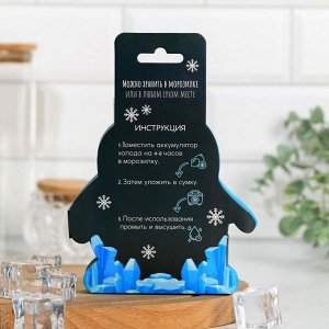 "Аккумулятор холода ""Отмороженный"", 13х12х1 см 2 шт."