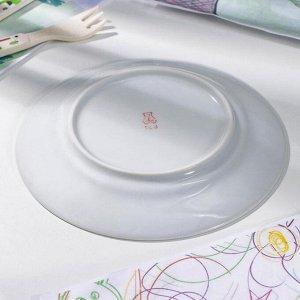 Тарелка мелкая Добрушский фарфоровый завод «Идиллия. Пчёлы», 17 см