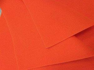Фетр мягкий размер 30х30 см, толщина 1 мм цвет неоновый оранжевый, 1 шт.