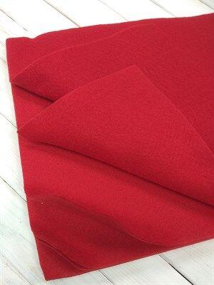 Фетр мягкий размер 20х30 см, толщина 1 мм цвет темно-красный, 1 шт.