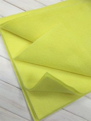 Фетр мягкий размер 20х30 см, толщина 1 мм цвет лимонный, 1 шт.