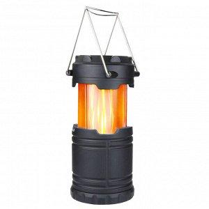 Cкладной кемпинговый фонарь на солнечной батарее Flame Lamp
