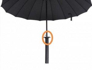 Зонт Имеется дефект. Смотреть доп.фото.  НЕИЗМЕННЫЙ ХИТ ПРОДАЖ! Большой купол (100 см в диаметре), прочный, за счет большого количества спиц (16 штук), примечательный дизайн - ручка выполнена в виде м