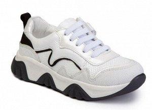 Кроссовки Кроссовки. Цвет Белый-Черный. Защищённый носок