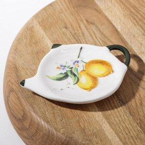 Подставка под чайный пакетик Доляна «Лимон», 12Х8,4 см