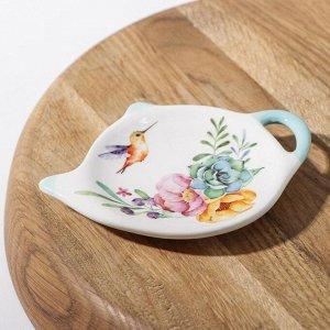 Подставка под чайный пакетик  «Пташка», 12?8,4 см