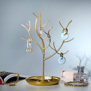 """Подставка для украшений """"Дерево"""" h=29. d=13, цвет золото"""