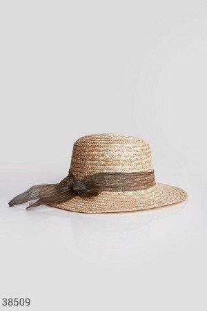 Соломенная шляпа-канотье
